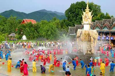 lễ hội té nước Thái Lan