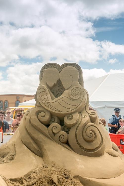lễ hội tượng cát ở New Zealand