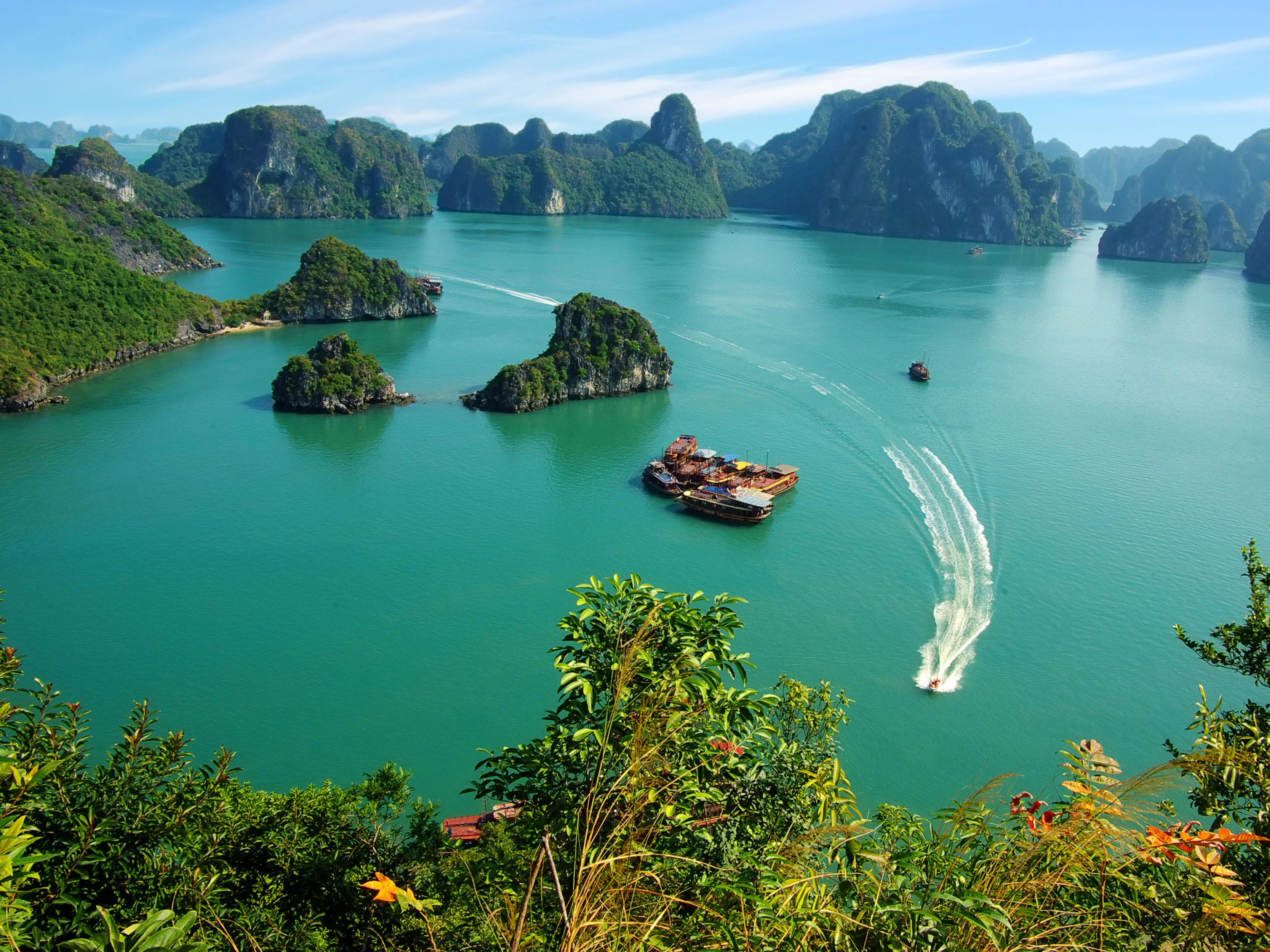 Vịnh Hạ Long được công nhận là kỳ quan thiên nhiên thế giới mới thu hút rất nhiều khách du lịch nước ngoài đến tham quan