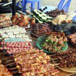Đồ nướng ở chợ ẩm thực Sapa